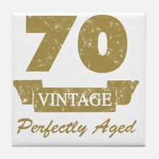 70th Birthday Vintage Tile Coaster