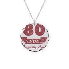 80th Birthday Vintage Necklace