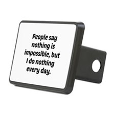Nothing Is Impossible Hitch Cover
