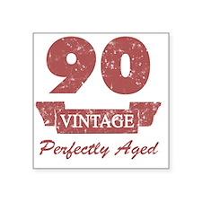 "90th Birthday Vintage Square Sticker 3"" x 3"""