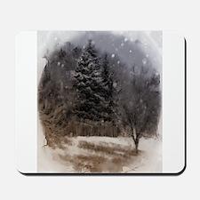 snowy scene Mousepad