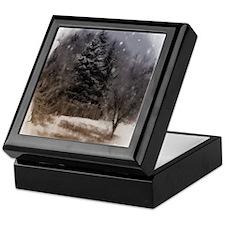 snowy scene Keepsake Box