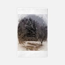 snowy scene 3'x5' Area Rug