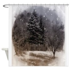 snowy scene Shower Curtain