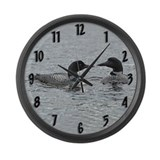 Maine loon birds Giant Clocks