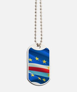 Cape Verde Flag Dog Tag Chain