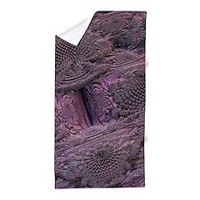 digital surprise pink Beach Towel
