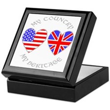 UK USA Country Heritage Keepsake Box