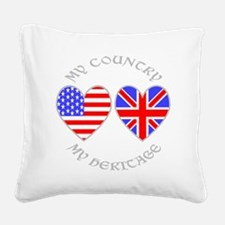 UK USA Country Heritage Square Canvas Pillow