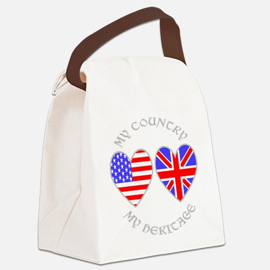 UK USA Country Heritage Canvas Lunch Bag