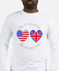 UK USA Country Heritage Long Sleeve T-Shirt