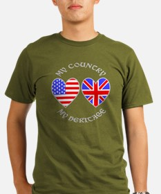 UK USA Country Herita T-Shirt