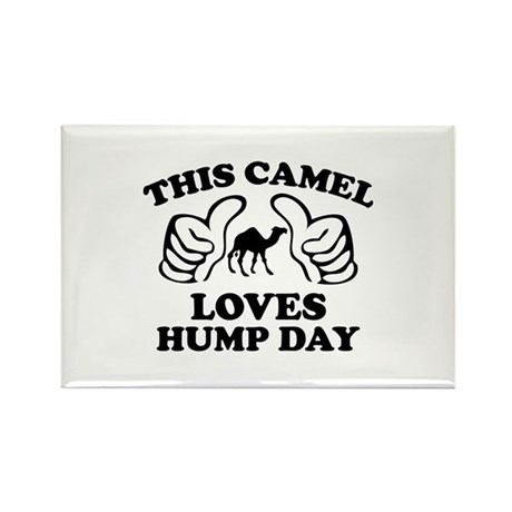 This Camel Loves Hump Day Rectangle Magnet (100 pa