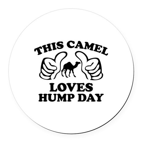This Camel Loves Hump Day Round Car Magnet