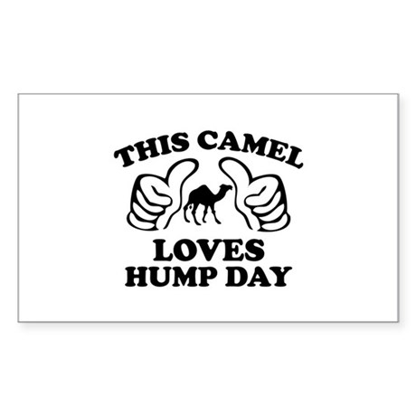 This Camel Loves Hump Day Sticker (Rectangle)