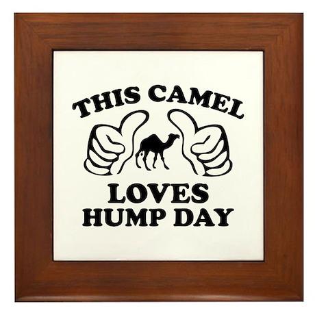 This Camel Loves Hump Day Framed Tile