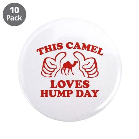 "This Camel Loves Hump Day 3.5"" Button (10 pack)"