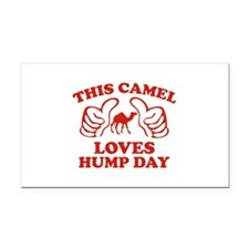 This Camel Loves Hump Day Rectangle Car Magnet