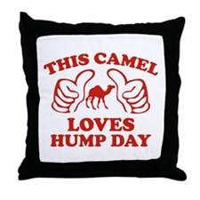 This Camel Loves Hump Day Throw Pillow
