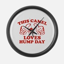 This Camel Loves Hump Day Large Wall Clock
