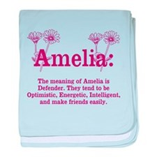The Meaning of Amelia baby blanket