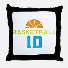 Custom Basketball Player 10 Throw Pillow