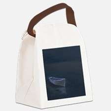 Simple Serenity - Lone Boat Canvas Lunch Bag