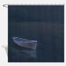 Simple Serenity - Lone Boat Shower Curtain