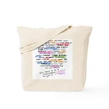 Words that DEFINE CHEERLEADING Tote Bag