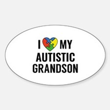 I Love My Grandson Decal