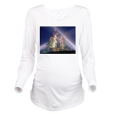 Space Shuttle Launch Long Sleeve Maternity T-Shirt