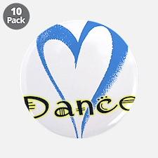 """Dance Heart 3.5"""" Button (10 pack)"""