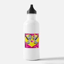 PIGEON WEDDING (Big Yellow Heart) Water Bottle