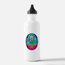 PIGEON FANCIER (Black Oval) Water Bottle