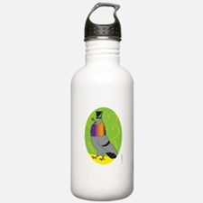 MALE PIGEON STRUTTING Water Bottle