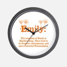 The Meaning Of Emily Wall Clock