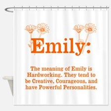 The Meaning Of Emily Shower Curtain