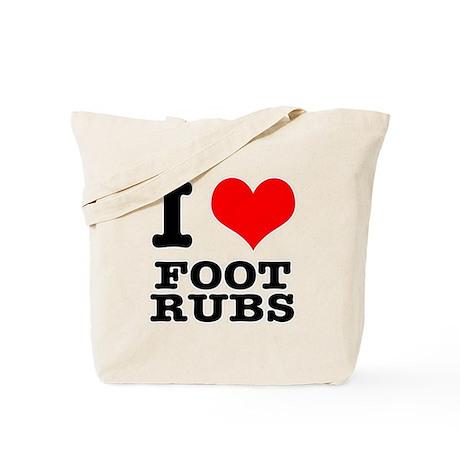 I Heart (Love) Foot Rubs Tote Bag