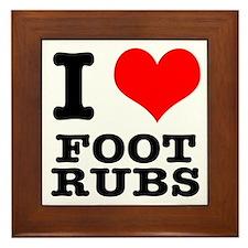 I Heart (Love) Foot Rubs Framed Tile