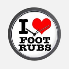 I Heart (Love) Foot Rubs Wall Clock