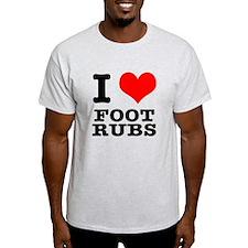 I Heart (Love) Foot Rubs T-Shirt
