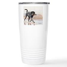 Cute Black labrador retriever Travel Mug