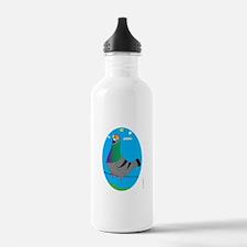 BLUE BAR PIGEON (Scenic) Water Bottle