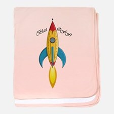 Blast Off! Rocket Ship baby blanket