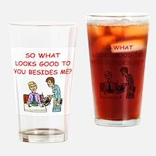 waitress Drinking Glass