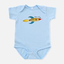 Space Baby Rocket Ship Infant Bodysuit