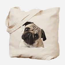 Pug Oil Painting Face Tote Bag