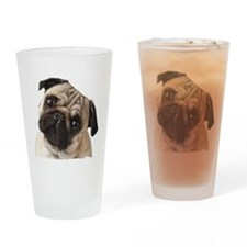 Pug Oil Painting Face Drinking Glass
