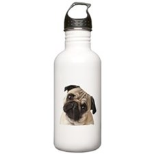 Pug Oil Painting Face Water Bottle