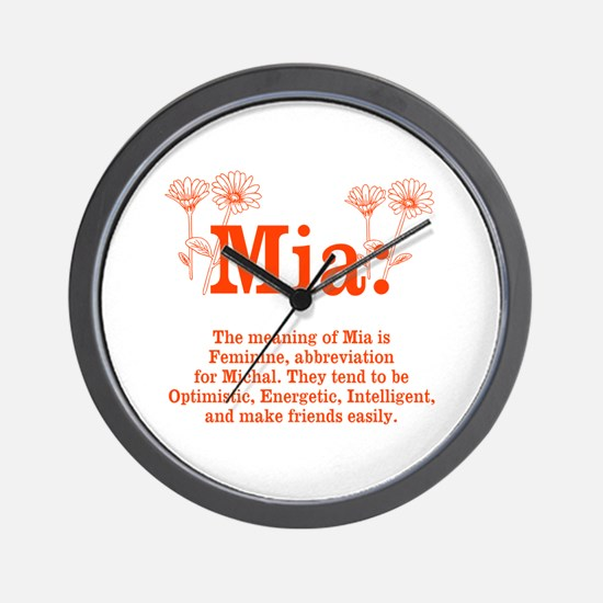 The Meaning of Mia Wall Clock